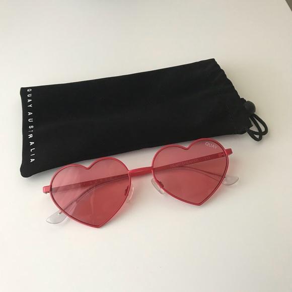 330c1a0b65f Quay Australia Heartbreaker Sunglasses. M 5ae5dfba61ca1036dd6816cb